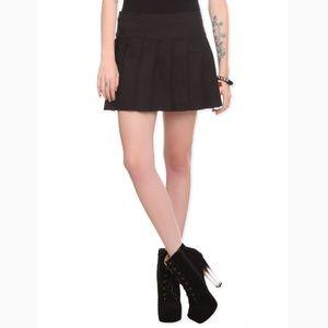 Royal Bones Tripp NYC Black Pleated Mini Skirt